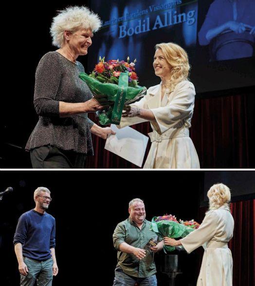 fe912cdf092 Bodil Alling blev hædret med Visionsprisen, mens Jesper Frølund Hansen og  René Benjamin Hansen fra Hils Din Mor glade tog imod Børne og Ungeprisen.